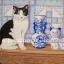 กระดาษสาพิมพ์ลาย สำหรับทำงาน เดคูพาจ Decoupage แนวภาพ ใครสวยกว่ากันจ๊ะ ระหว่างน้องแมวตัวจริง กับน้องแมวกระเบื้องเคลือบ thumbnail 1