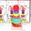 ของเล่นไม้ Rainbow Tower บล็อคไม้สวมหลัก 7 ชั้น thumbnail 9
