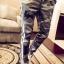 กางเกงขายาวแฟชั่น ทรงJOGGER ลายพรางโทนเทา-กากี รุ่น LP0014 thumbnail 2