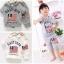 ชุดเซตเด็ก เสื้อ +กางเกงสีเทา สกรีนที่หน้าอก มีฮูด น่ารักสไตล์เกาหลี เก๋มาก (ขนาด120) thumbnail 2