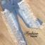 กางเกงยีนส์แต่งแถบริบบิ้นผ้าแก้วโทนสีขาว ยีนส์เอวสูงผ้ายืด ทรงสกินนี่เข้ารูป ดาราใสเยอะค่ะ ใส่โชว์หุ่นโชว์ขา งานสวยผ้าดี ผ้าริบบิ้นซีทรูที่ช่วงแถบข้างค่ะ thumbnail 6