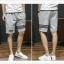SP0039 กางเกงขาสั้นแฟชั่นเกาหลี สีเทา คาดดำ thumbnail 3