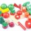 ของเล่นไม้ ชุดหั่นผักผลไม้ถังกลม thumbnail 3