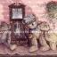 กระดาษสาพิมพ์ลาย rice paper เป็น กระดาษสา สำหรับทำงาน เดคูพาจ Decoupage แนวภาพ หมีคุณปู่ เท็ดดี้ แบร์ teddy bear นั่งหลับข้างนาฬิกาทรงโบราณ มีหลาน2ตัวนั่งซบ (ปลาดาว ดีไซน์) thumbnail 1