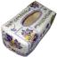 กล่องทิชชูใบลานแบบกล่อง ลายช่อดอกแพนซีสีม่วง thumbnail 1