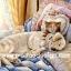กระดาษสาพิมพ์ลาย สำหรับทำงาน เดคูพาจ Decoupage แนวภาพ นอนสบายกันจริงๆ น้องหมานอนตักพี่เหมียวอยู่บนเตียงนุ่ม thumbnail 1