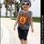 Huanzhu kids ชุดเซตเด็กชาย 2 ชิ้น เสื้อกล้ามลายสิงโตสีขาว +กางเกงขาจั๊มพ์ 3 ส่วนสีเทา เก๋มากค่ะ thumbnail 2