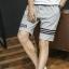 SP0039 กางเกงขาสั้นแฟชั่นเกาหลี สีเทา คาดดำ thumbnail 1