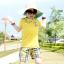 เสื้อยืด คอกลม สีเหลือง แขนสั้น มีลายอามด้านหลัง น่ารัก สไตล์เกาหลีค่ะ thumbnail 5