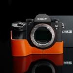 Gariz Half-case for Sony A9 , A7R III, A7 III : Orange