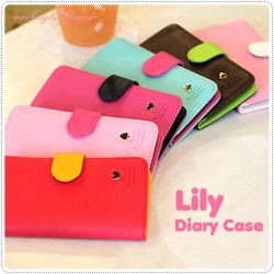 Lily Diary Case for Galaxy S3