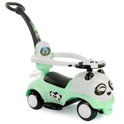 รถขาไถแพนด้า 2 in 1 (รถขาไถ +รถเข็น)สีเขียว ฟรีค่าจัดส่ง