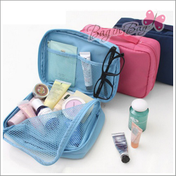Travel Mesh Zippered Multi Pouch Bag กระเป๋าใส่ของอเนกประสงค์ไว้พกพาเดินทาง