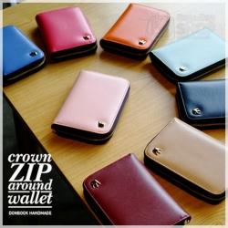 CROWN ZIP AROUND WALLET กระเป๋าสตางค์สั้น รุ่นมีซิป