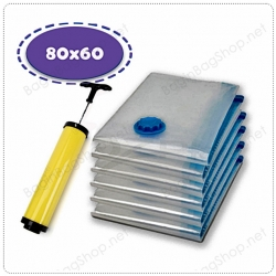 เซ็ทถุงสูญญากาศ 6 ใบ (L) + กระบอกสูบลม เพียง 519 บาท