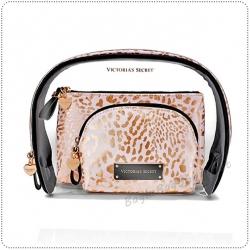 &#x2764️ VS Gold Script Cosmetic Trio Bag