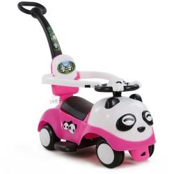 รถขาไถแพนด้า 2 in 1 (รถขาไถ +รถเข็น)สีชมพู ฟรีค่าจัดส่ง