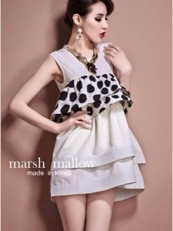 Marsh Mallow Polka Dot and Strip Dress