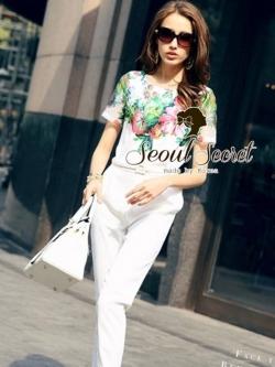 Seoul Secret Zarah Blossom Long Playsuit