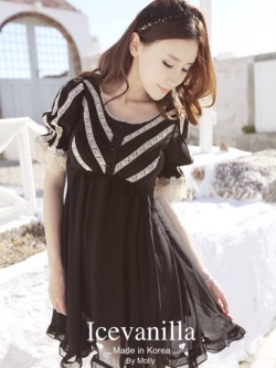 Icevanilla Romantic Black Lace Dress