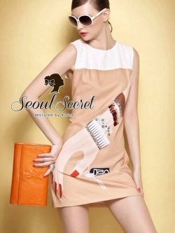 Seoul Secret Moschino Red Nail Dress