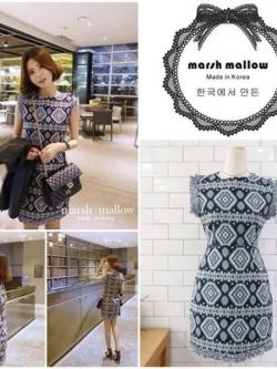 Marsh Mallow Ethnic Style Dress