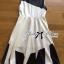 Lady Ribbon Minimal Monochrome Flared Dress thumbnail 9
