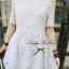 Lady Ribbon Lace Embroidery Dress เดรสลูกไม้ฉลุ ผ้าซีทรู thumbnail 5