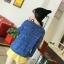 MisSweet เสื้อไหมพรม สีน้ำเงิน ถักลายลูกเป็ด สุดฮอต thumbnail 3