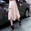 Lady Ribbon Jersey Chiffon Layer Dress เดรสต่อกระโปรงชีฟอง thumbnail 4