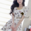 Seoul Secret Colorful Jewel Print Gold Bead Furnish Dress thumbnail 1