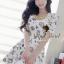 Seoul Secret Colorful Jewel Print Gold Bead Furnish Dress thumbnail 1
