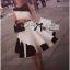 Lady Ribbon Minimal Monochrome Flared Dress thumbnail 1