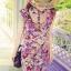 Blooming Floral Mini Dress มินิเดรส ลายดอกไม้ โทนสีชมพูหวานๆ thumbnail 1