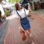 Jean Apron Skirt กระโปรงเอี๊ยมยีนส์ ถอดสายได้ thumbnail 1