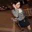 Lady Ribbon Black & White Tweet Mini Dress เก๋ เรียบหรู ไฮโซสุดๆ thumbnail 6