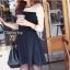 Cliona มินิเดรสแขนยาว ผ้า cotton โทนสีขาวดำ thumbnail 3