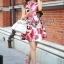 Seoul Secret เดรสแขนกุด ลายดอกกุหลาบแดง thumbnail 3