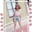ChuViVi เสื้อสีชมพูลายจุด แต่งไหมพรมถัก เอวรูด thumbnail 2