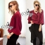 Sevy Long Sleeved Red Wine Shirt With Harlem Pants thumbnail 2