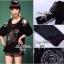 Lady Ribbon ชุดเซ็ทเสื้อเปิดไหล่ กางเกงตีเกล็ดสีดำ thumbnail 7