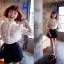 GOD is Girl เสื้อผ้าลูกไม้สีขาว แต่งกระดุมเพชร thumbnail 5