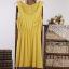 เดรสผ้ายืดเนื้อนิ่ม เอวยางยืด สีชมพู เหลือง กรมท่า thumbnail 10
