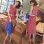 Odee Cutie Maxi Dress เดรสยาวสีแดง ลายดอก พร้อมเข็มขัดเข้าเซ็ท thumbnail 1