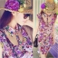 Blooming Floral Mini Dress มินิเดรส ลายดอกไม้ โทนสีชมพูหวานๆ thumbnail 2