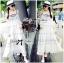 Lady Ribbon Bohemien Maxi Dress เดรสยาวผ้าชีฟองปักลาย thumbnail 5