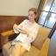 Lady Ribbon Mini Dress เดรสแขนยาว ซีทรูดีเทลอกฉลุรังผึ้ง thumbnail 9
