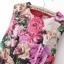 ASOS/GANLAN เดรสสั้น ผ้าพิมพ์ลายดอก สีสดใส ไซส์ S M L thumbnail 6