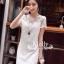 See-Through Embroidery Dress เดรสผ้าลูกไม้ซีทรู สีขาว / ดำ thumbnail 4
