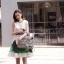 Partysu Vivid Dress เดรสเกาหลีแขนกุดสีครีม กระโปรงทรง A thumbnail 1